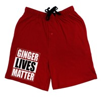 Ginger Lives Matter Adult Lounge Shorts  by TooLoud