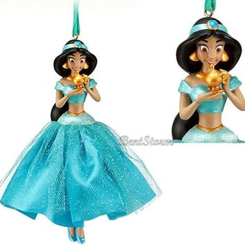 Licensed cool NEW Disney Store Princess JASMINE Aladdin Genie Christmas Holiday Ornament 2012