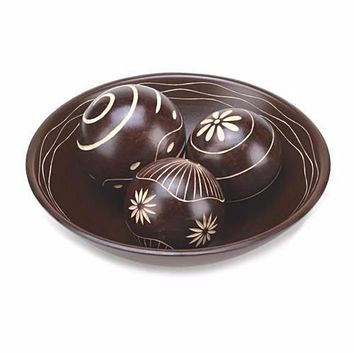 Brown Decorative Ball Set