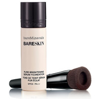 bareMinerals BARESKIN Brightening Serum Foundation SPF20 & Brush | QVCUK.com