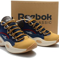 Reebok Iverson 1st Generation Retro Shoes size 40-46 Dark blue brown
