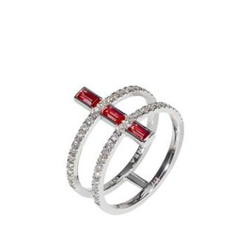 DIONEA ORCINI | Linee Misteriose Mini Ring with Rubies | Browns fashion & designer clothes & clothing