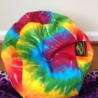 Ahh! Products Tie Dye Rainbow Bean Bag Chair for Dolls