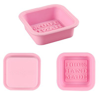 Top Grand 2016 1Pc Newly Design Hot Selling Delicate Cute Craft Art Square Silicone Oven Handmade Soap Molds DIY Soap Mold