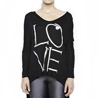 Elyse Love Nail Long Sleeve V-Neck With Tail