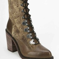Luxury Rebel Mara Lace-Up Heeled Boot- Khaki