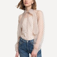 MIMI ORGANZA POLKA DOT TOP