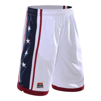 2017 New USA basketball Shorts for Men Workout Shorts Summer Beach Shorts For Men 3 Color Plus Size