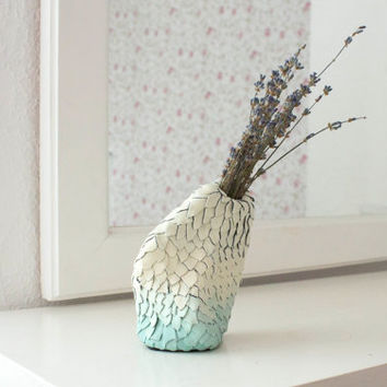 Decorative Vases, Polymer Clay Ceramic Vase, Handmade vase