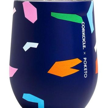 Corkcicle Confetti Print Stemless Wine Glass