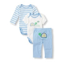 Baby Boys Turtle Bodysuits And Pants Set | The Children's Place