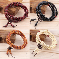 Natural Sandalwood  Buddha Meditation Bracelet