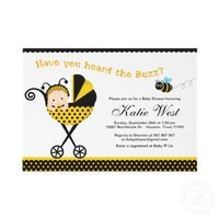 BUmble Bee Baby Shower Invitation from Zazzle.com