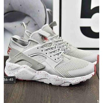 Nike Air Huarache Tide Brand Fashion Knit Running Shoes F-A36H-MY White