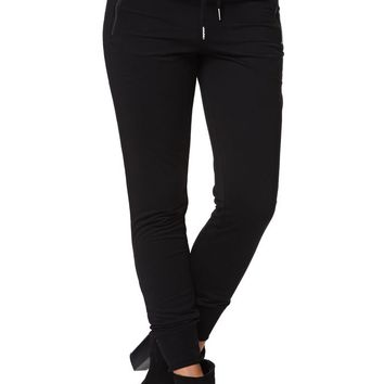 LA Hearts Black Zipper Jogger Pants - Womens Pants - Black