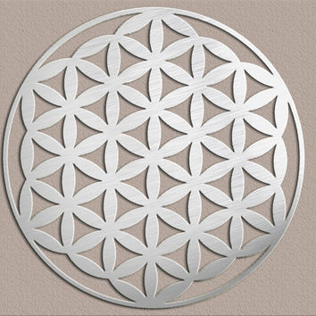 Flower of Life Sacred Geometry Metal Wall Art by INSPIREMEtals