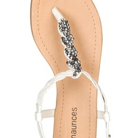 White ada Braided sandal