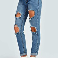 Mia Extreme Ripped 7/8th Jeans