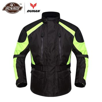 Trendy DUHAN Motorcycle Jacket Moto Men Autumn Winter Waterproof Cold-proof Rain Coat Clothing Touring Motorbike Jacket Protective Gear AT_94_13
