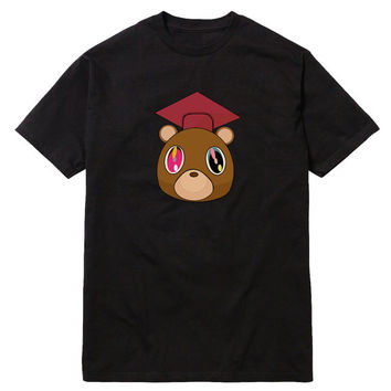 Graduation Bear Kanye West T-Shirt College Dropout Yeezus GOOD Music Jay-Z Swish Late Registration