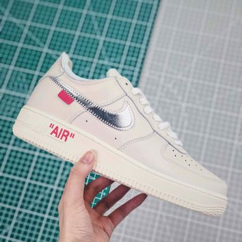 Off White X Nike Air Force 1 Alf1 Low Sneakers - Best Online Sale