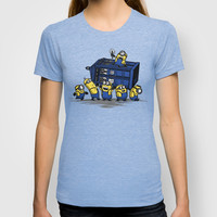 The Minions Have The Phone Box T-shirt by Onebluebird