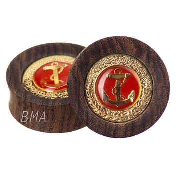 "Build Your Vintage Red Anchor Wood Plugs (19mm-38mm) (3/4""- 1' 1/2"")"