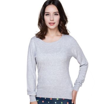 Solid Color Cashmere Casual Women Sweater