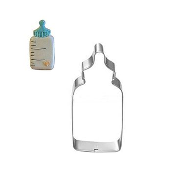 Baby Bottles Shaped Cookie Cutter Set Stainless Steel Biscuits Mold Cupcake Cake Decorations