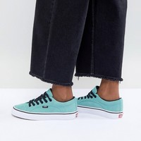 Vans Lampin Unisex Sneakers In Teal at asos.com