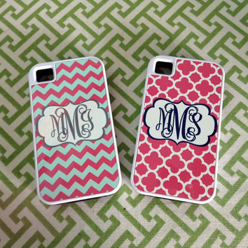 IPhone 4 or 5 Phone Case Custom monogrammed printed personalized