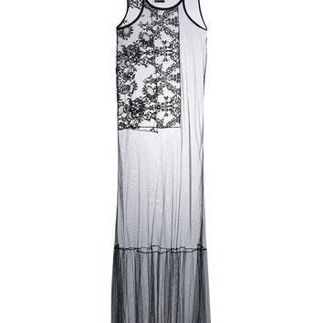 Silk Tulle Drop Waist Lace Dress - HAIDER ACKERMANN