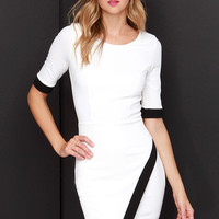 Wrap-phrodisiac Ivory Dress