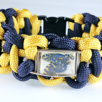 Paracord Bracelet with School Logo, Stephenville Yellowjackets, Custom Made, Your School