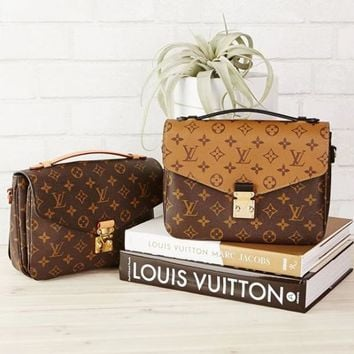 LV Louis Vuitton Women Shopping Leather Crossbody Satchel Shoulder Bag