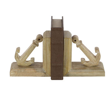 Striking Wooden Nautical Bookend