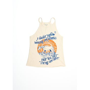 Get There on Time Halter Tank