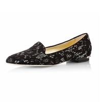 Sally  black  lace  smoking  slippers