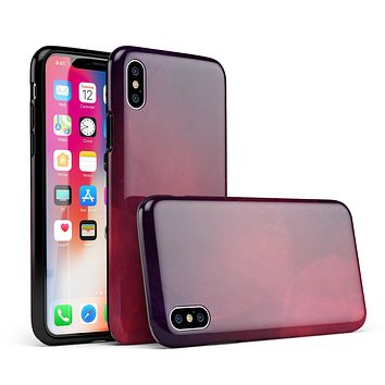 Abstract Fire & Ice V12 - iPhone X Swappable Hybrid Case