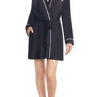 kate spade new york jersey short robe | Nordstrom
