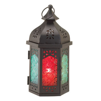 Exotic Tabletop Candle Lantern