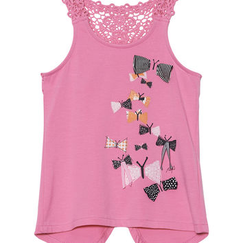 Miss Butterfly Crochet Tank Top