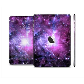 The Violet Glowing Nebula Full Body Skin Set for the Apple iPad Mini 2
