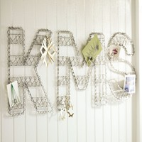 Wire Glitter Letters