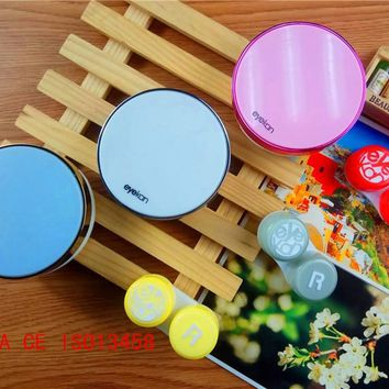 Round colored contact lenses for eyes case  contact lens case for glasses case eyeglass Contact lens care box L1610