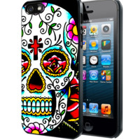 Sugar Skull Flowers Samsung Galaxy S3 S4 S5 Note 3 , iPhone 4 5 5c 6 Plus , iPod 4 5 case