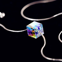 Color Reflection Magic Crystal Fashion Necklace - LilyFair Jewelry