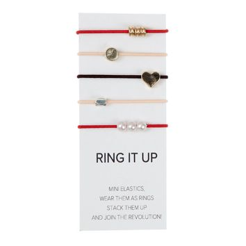 By Lilla Mix It Up Ring - Red