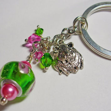Guinea Pig Deluxe Key Ring