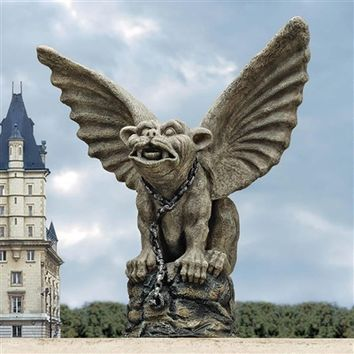SheilaShrubs.com: Chained Cathedral Gargoyle Statue EU35033 by Design Toscano: Garden Sculptures & Statues